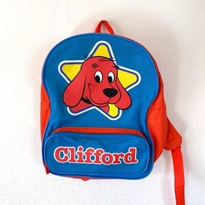 Vintage 90s Kids Clifford Small Backpack